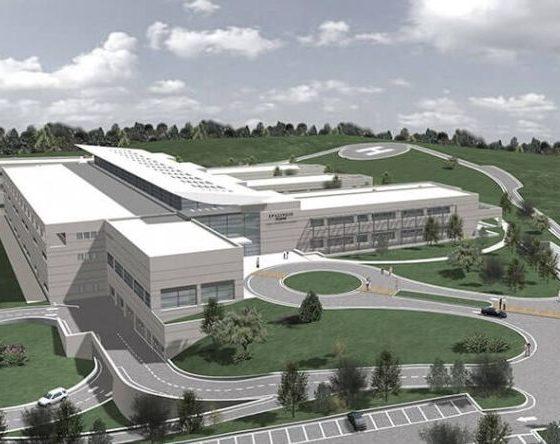 Μακέτα για το Ερασίνειο Ογκολογικό Νοσοκομείο στο Κορωπί - Πηγή: Parthenios Architects & Associates