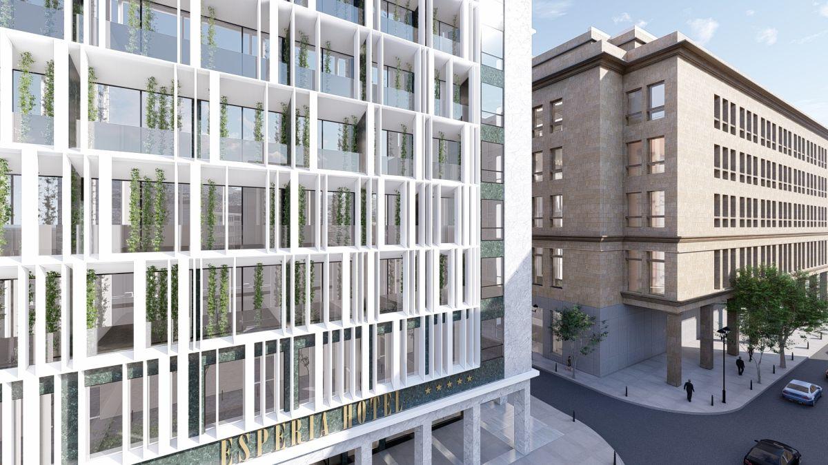 Το νέο ξενοδοχείο NYX Athens by Leonardo, στο πρώην Esperia στη Σταδίου - Πηγή: Tsolakis Architects