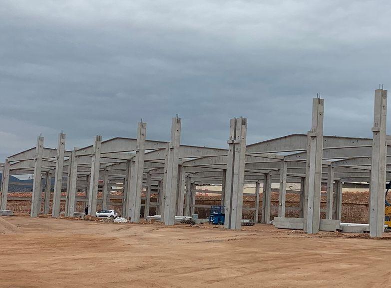 Το υπό κατασκευή νέο κέντρο logistics της BriQ στον Ασπρόπυργο - Φωτό: ASPROKAT