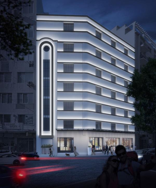 Η παλιά καπναποθήκη στη Δωδεκανήσου στη Θεσσαλονίκη, όπου θα γίνει το νέο ξενοδοχείο της Brownfield