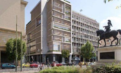 """Το νέο """"πράσινο"""" κτίριο γραφείων της Eurobank, στη Σταδίου - Φωτό: Tombazis & Associate Architects"""