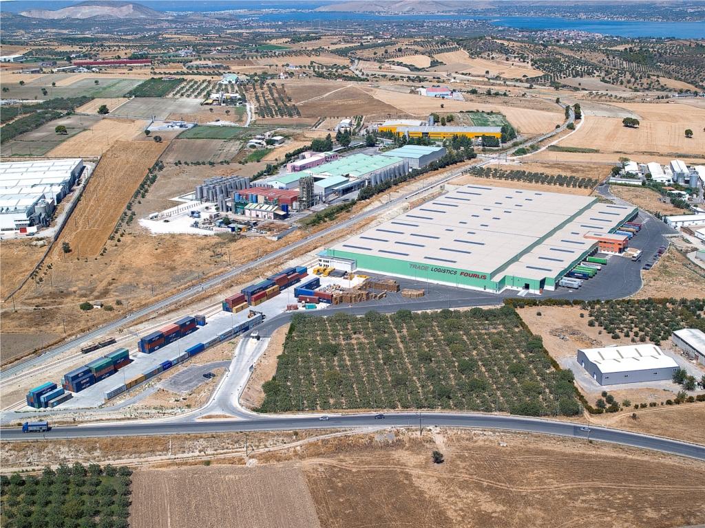Οι εγκαταστάσεις logistics του Ομίλου Φουρλή στα Οινόφυτα - Φωτό: TRADE LOGISTICS