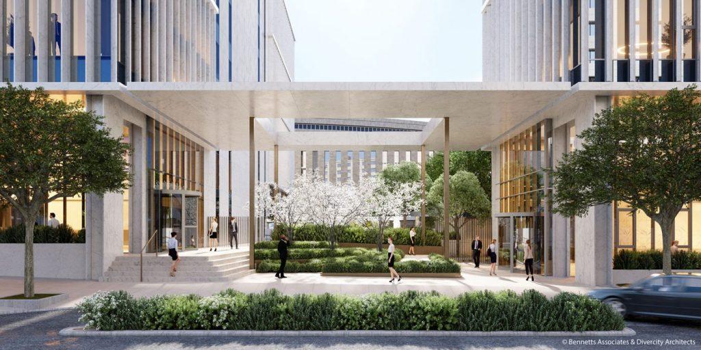 Το νέο συγκρότημα κτιρίων γραφείων στη Λ. Συγγρού και Λαγουμιτζή - Φωτό: Divercity Architects & Bennetts Associates