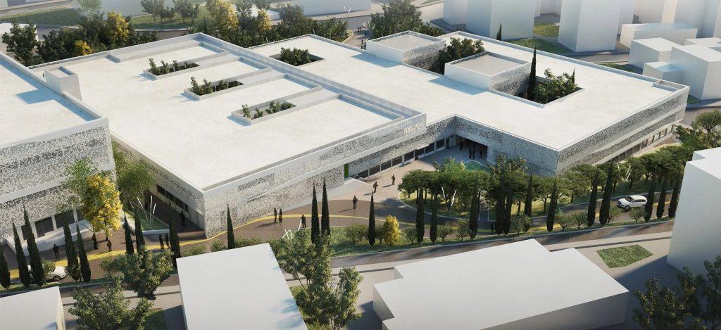 Το νέο συγκρότημα γραφείων στο ακίνητο της ΦΑΜΑΡ στον Άλιμο - Φωτό: A&M Architects