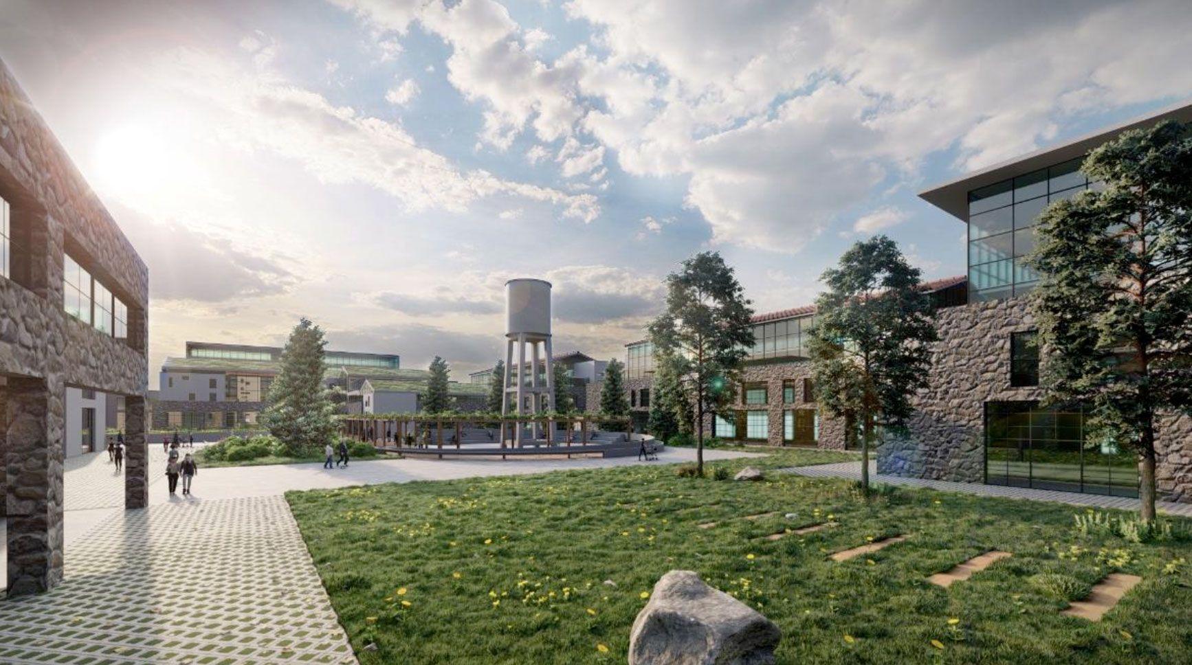 Η νέα Πολιτεία Καινοτομίας που θα δημιουργηθεί στο πρώην ακίνητο της ΧΡΩΠΕΙ στην Πειραιώς - Εικόνα: Υπουργείο Ανάπτυξης & Επενδύσεων