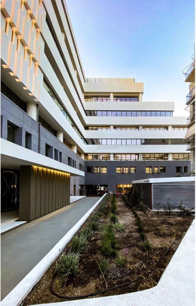 Το νέο βιοκλιματικό κτίριο σύγχρονων γραφείων στο πρώην κτίριο της Ελευθεροτυπίας στο Νέο Κόσμο - Φωτό: Dimand