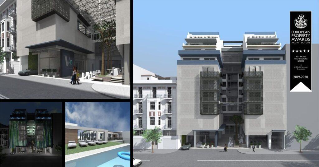 Το νέο 5άστερο ξενοδοχείο V45 στο κέντρο της Θεσσαλονίκης - Πηγή: Del Blu Architects