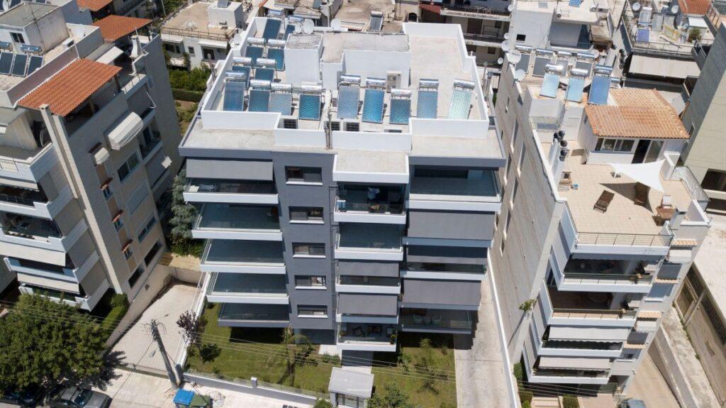Το νέο οικιστικό κτίριο πολυτελών κατοικιών της Ten Brinke στο Ελληνικό - Πηγή: Ten Brinke