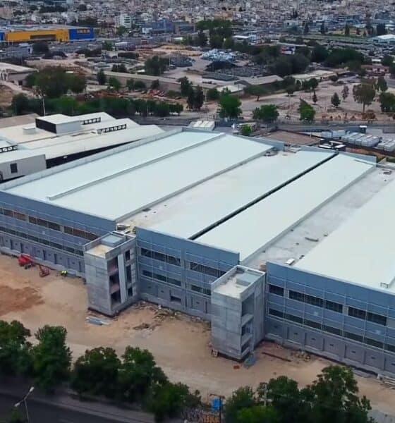 Το νέο υπό κατασκευή κέντρο διαλογής δεμάτων (logistics hub) της ACS στην Π. Ράλλη - Πηγή: ACS