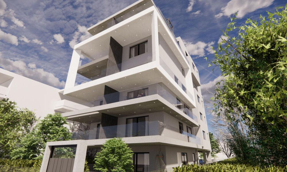 Το νέο κτίριο κατοικιών της Ten Brinke στην Εθνάρχου Μακαρίου στο Ελληνικό - Πηγή: Ten Brinke